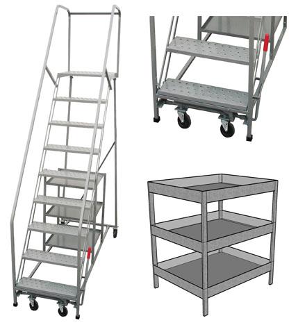 Pw platforms inc rolling stock picker ladder for A frame ladder safety tips